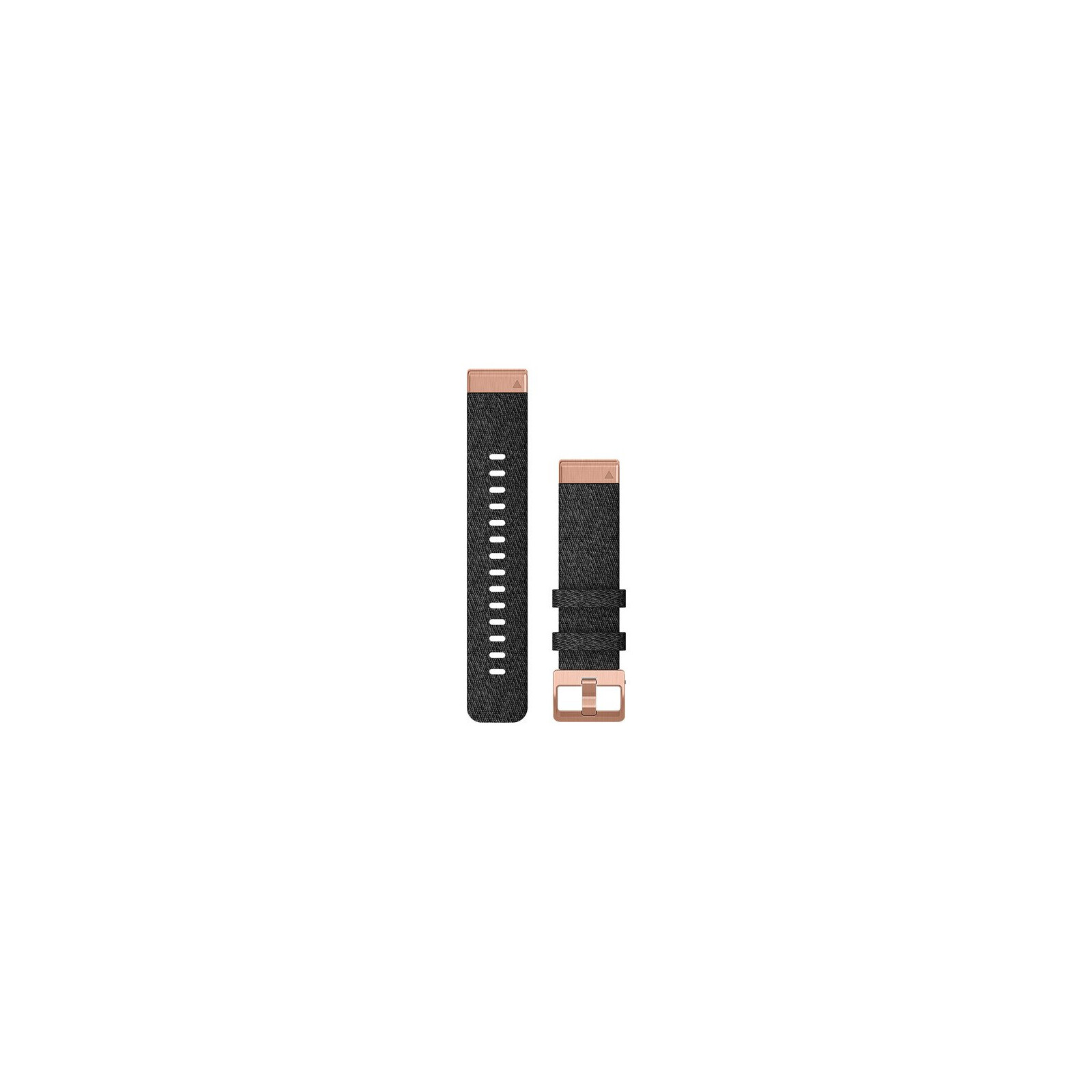 Garmin Quickfit Band 20mm Nylon schwarz meliert Rosegold