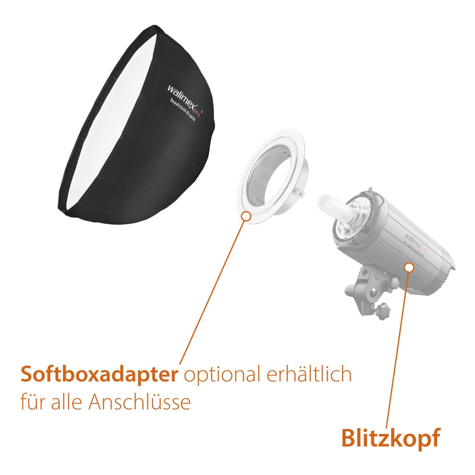 Walimex pro Studio Line Beauty Dish Softbox QA65 Visatec
