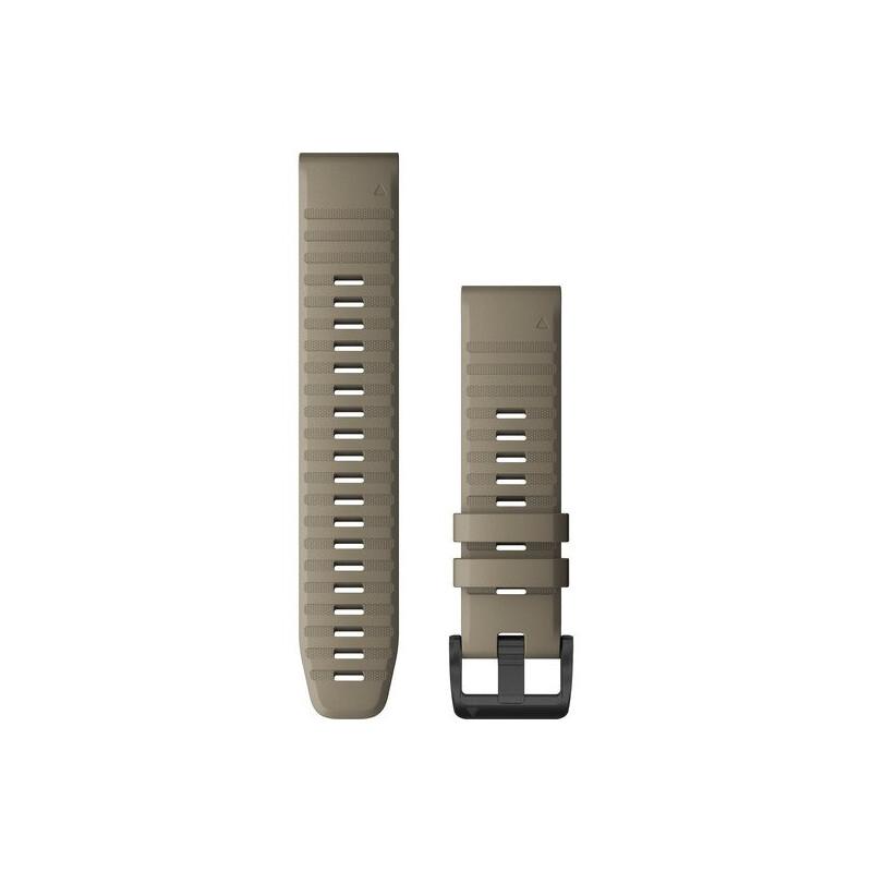 Garmin Quickfit Band 22mm Silikon dunkelbeige schwarz