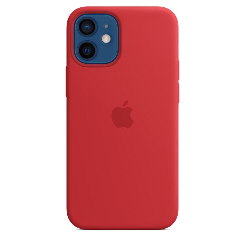 Apple iPhone 12 mini Silikon Case mit MagSafe productred