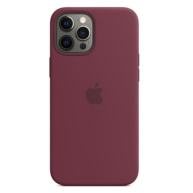 Apple iPhone 12 Pro Max Silikon Case mit MagSafe pflaume
