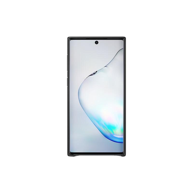 Samsung Back Cover Leder Galaxy Note10 schwarz