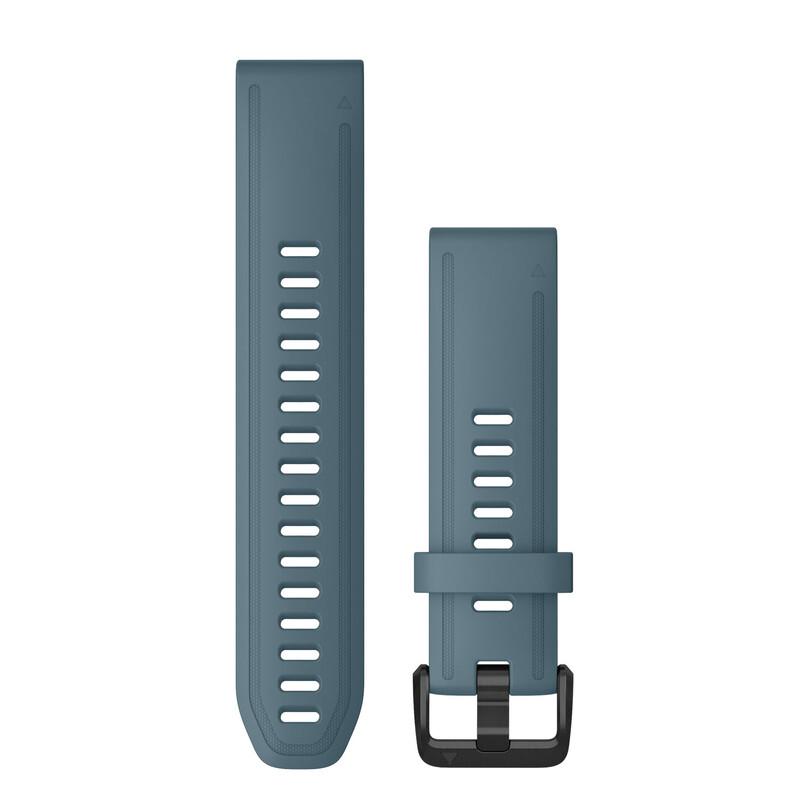 Garmin Quickfit Band 20mm S/M Silikon taubenblau schwarz