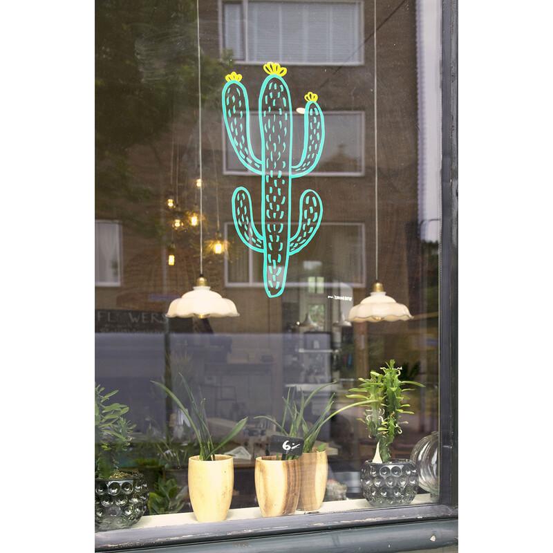Securit Fensterschablone Pflanze mit Kreidestift A2 3er