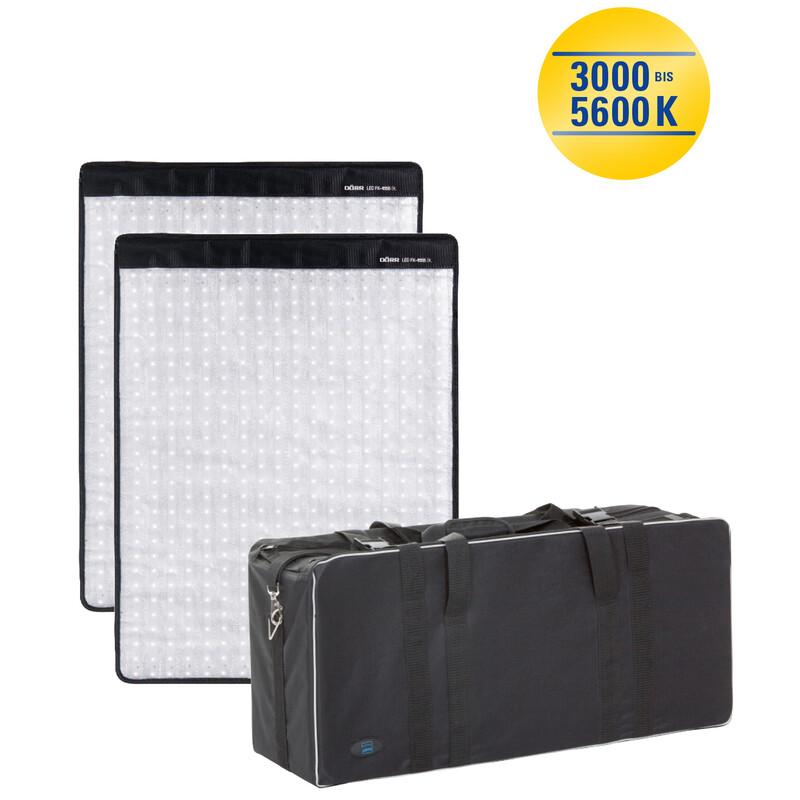 Dörr FX-4555 BC Set LED Flex Panel 2er-Set inkl. Tasche
