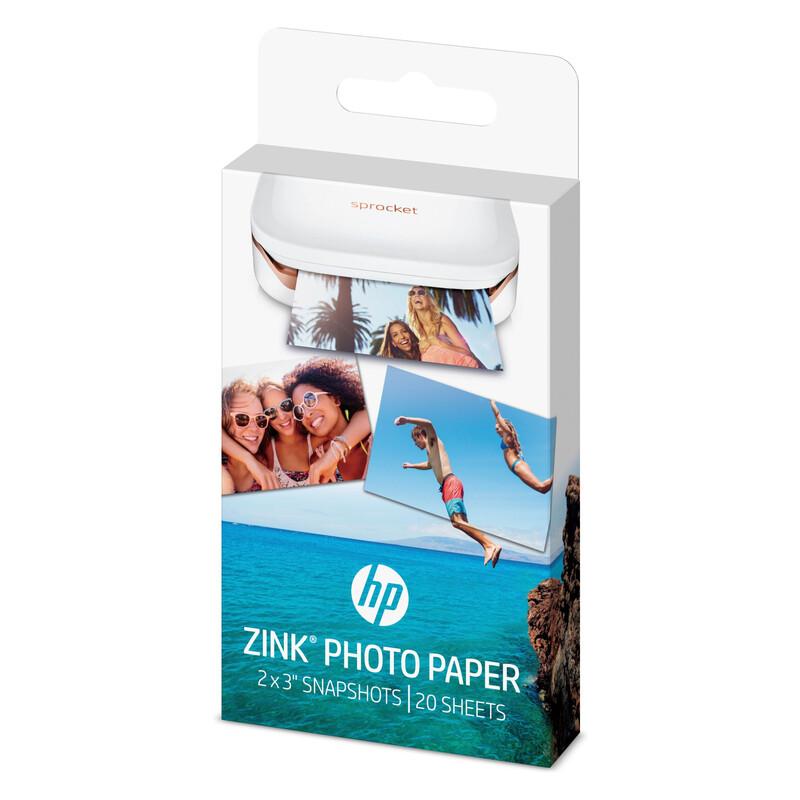 HP ZINK Paper 20 Pack 2x3