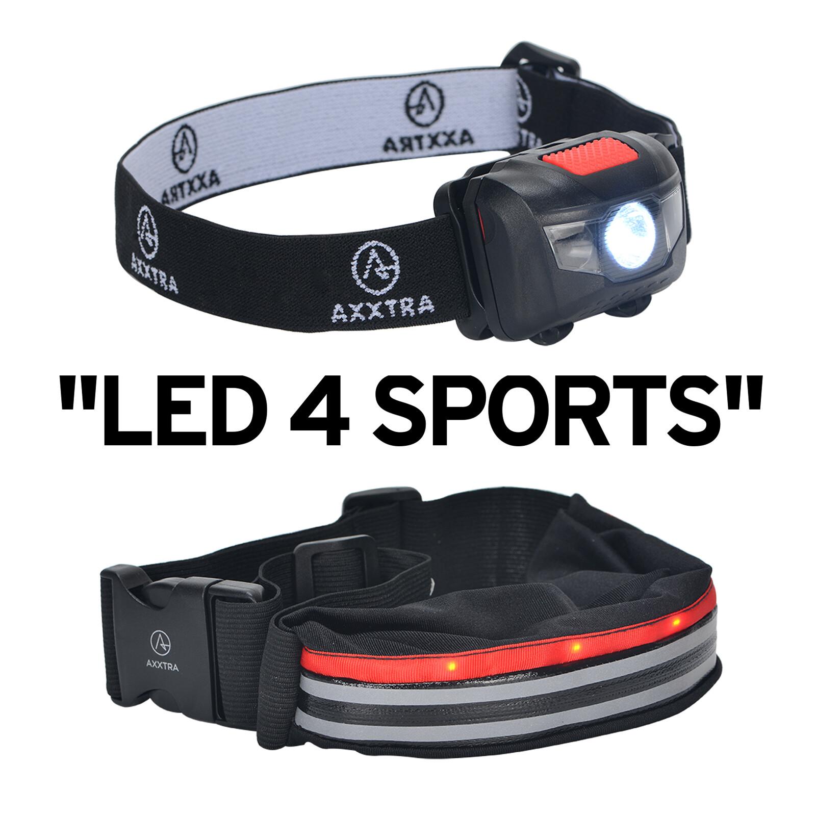 Axxtra LED Sport Set Gürteltasche und Stirnlampe