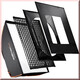 walimex pro Softbox PLUS OL 90x90cm Multiblitz V