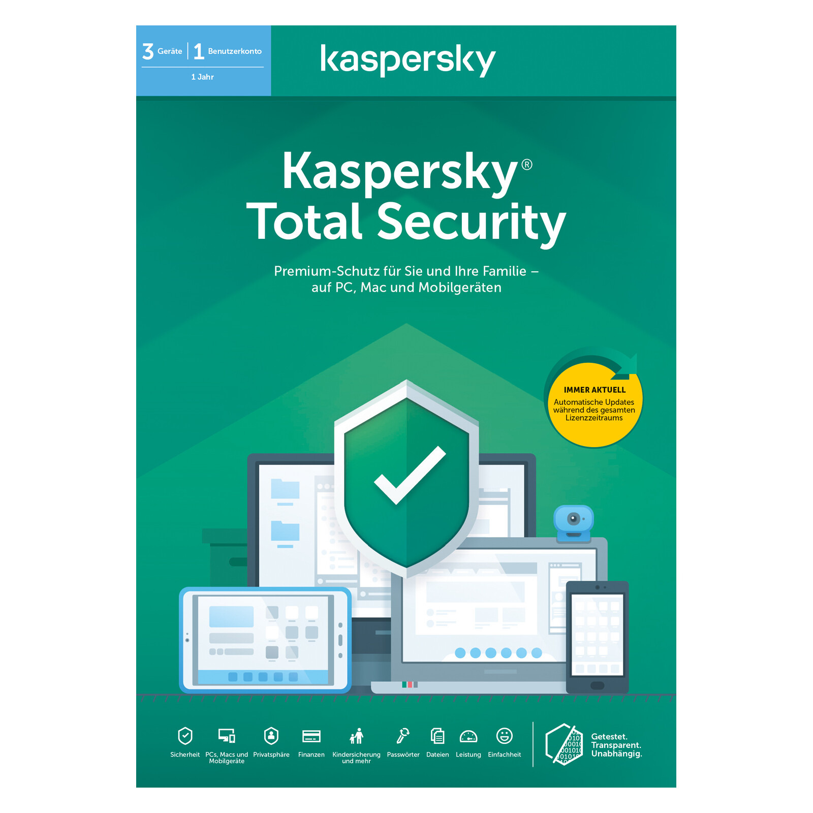 Kaspersky Total Security (Code in a Box) 2020