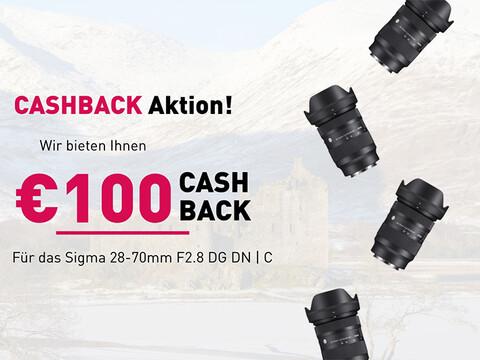 vier Sigma Objektive von Hartlauer und die Infos zur Sigma Cashback Aktion