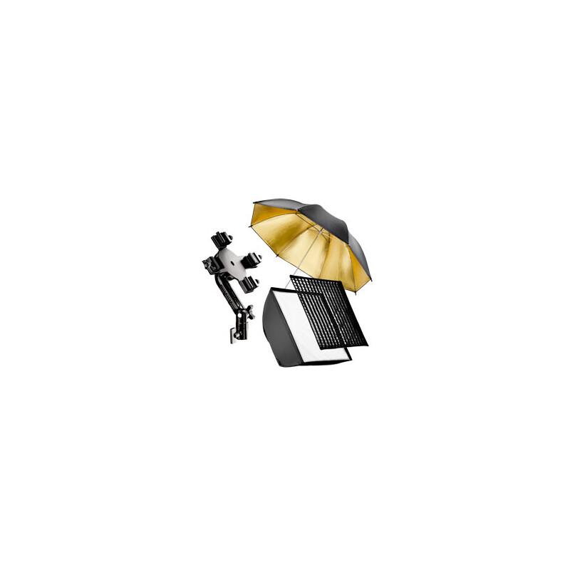 walimex 4f Blitzhalter inkl. SB 60, Schirm gold