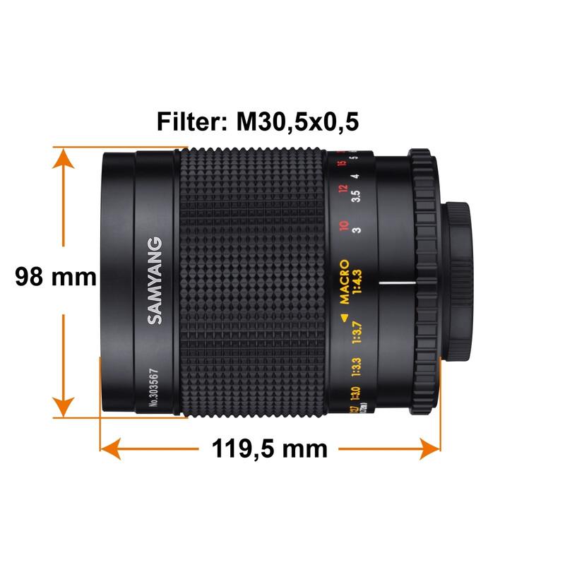 Samyang MF 500/8.0 Spiegel T2
