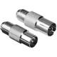 Hama 47415 Sat Adapter F-Kupplung Koax Stecker/