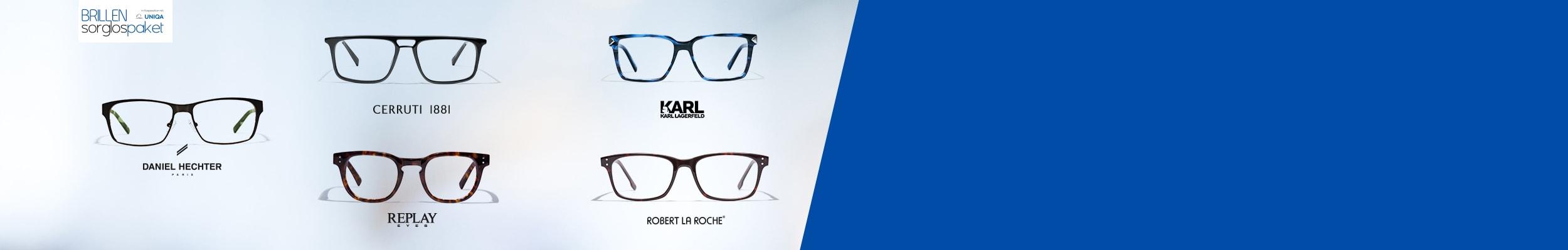"""""""Brillen verschiedener Marken mit Logos"""""""