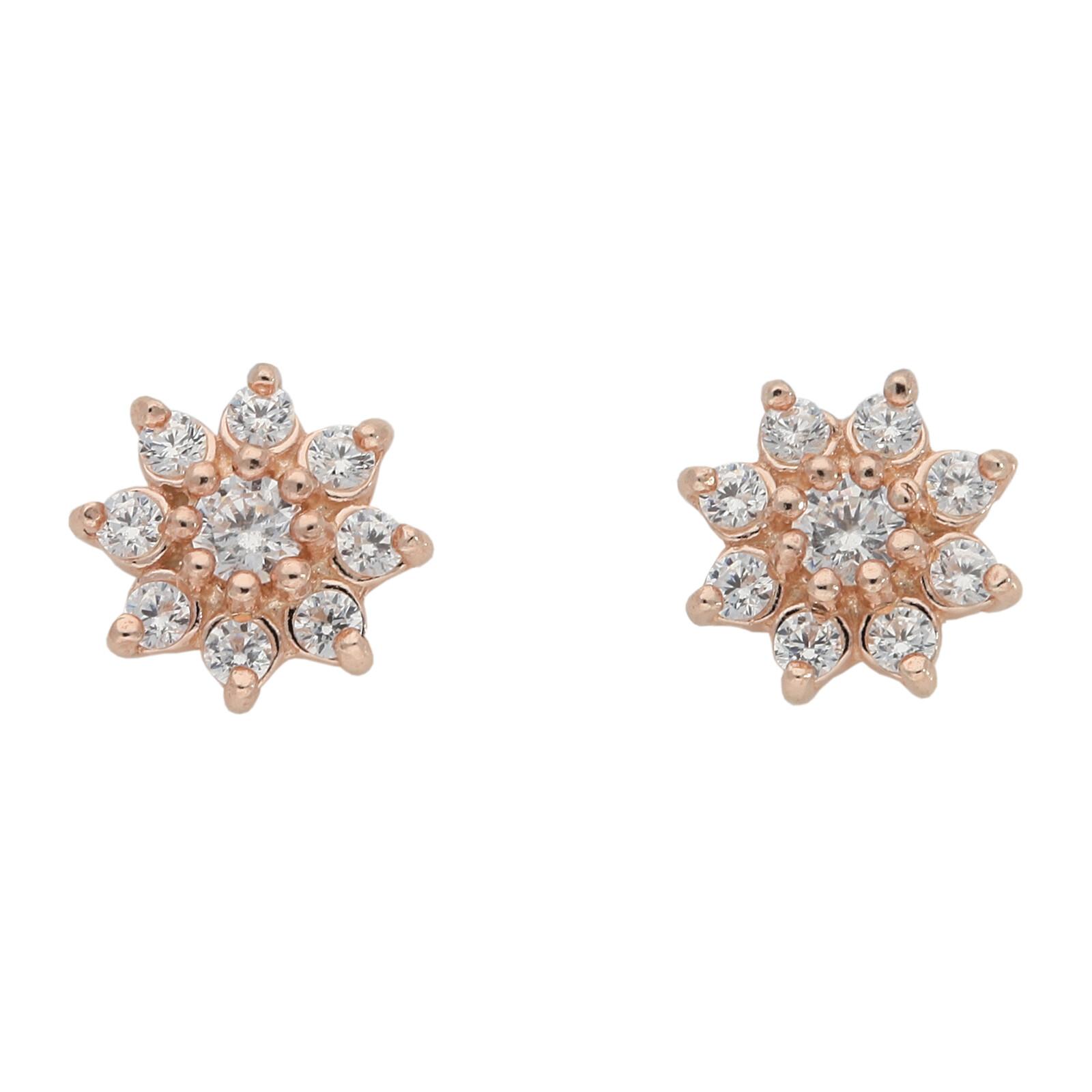 Ohrstecker Star rosevergoldet echt Silber