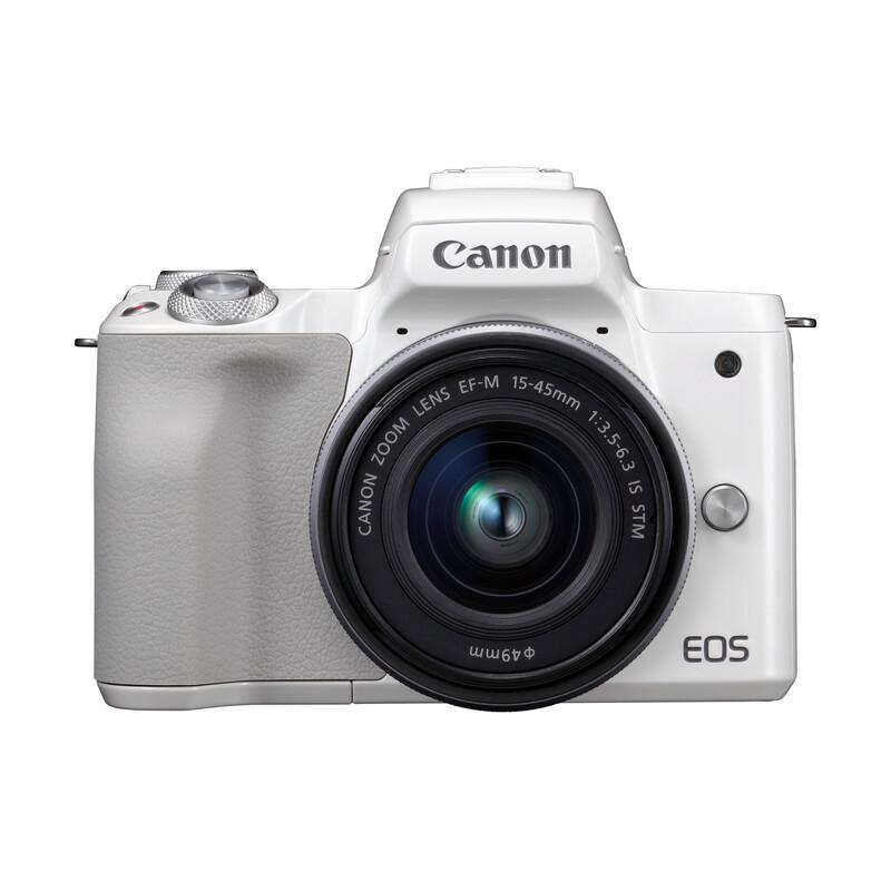 Canon PARS SIP EOS M50 + EF-M 15-45/3,5-6,3 IS STM Weiß