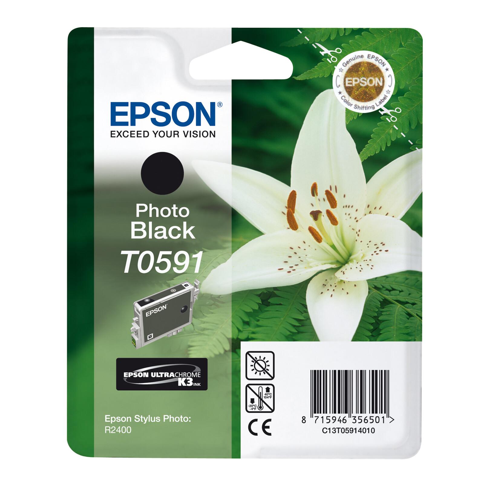 Epson T0591 Tinte Photo Black 13ml