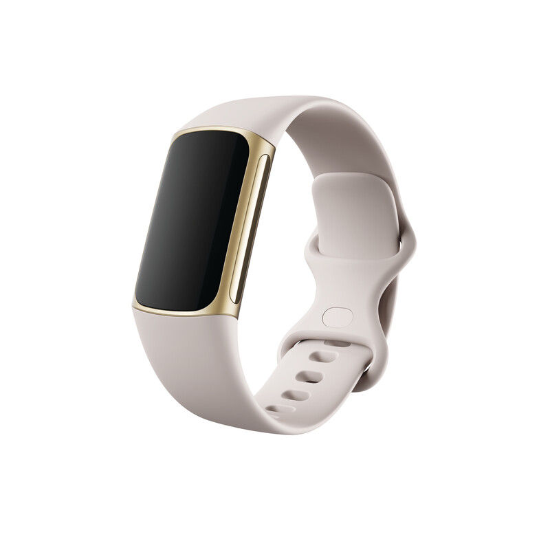 Fitbit Charge 5 Lunar White/ Soft Gold Stainless Steel