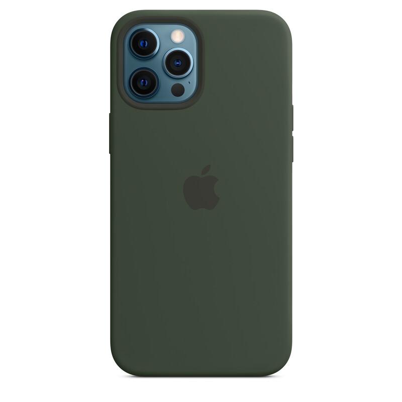 Apple iPhone 12 Pro Max Silikon Case mit MagSafe zyperngrün