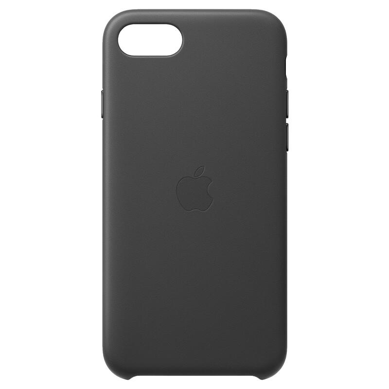 Apple Original Back Cover Leder iPhone SE 2020 schwarz
