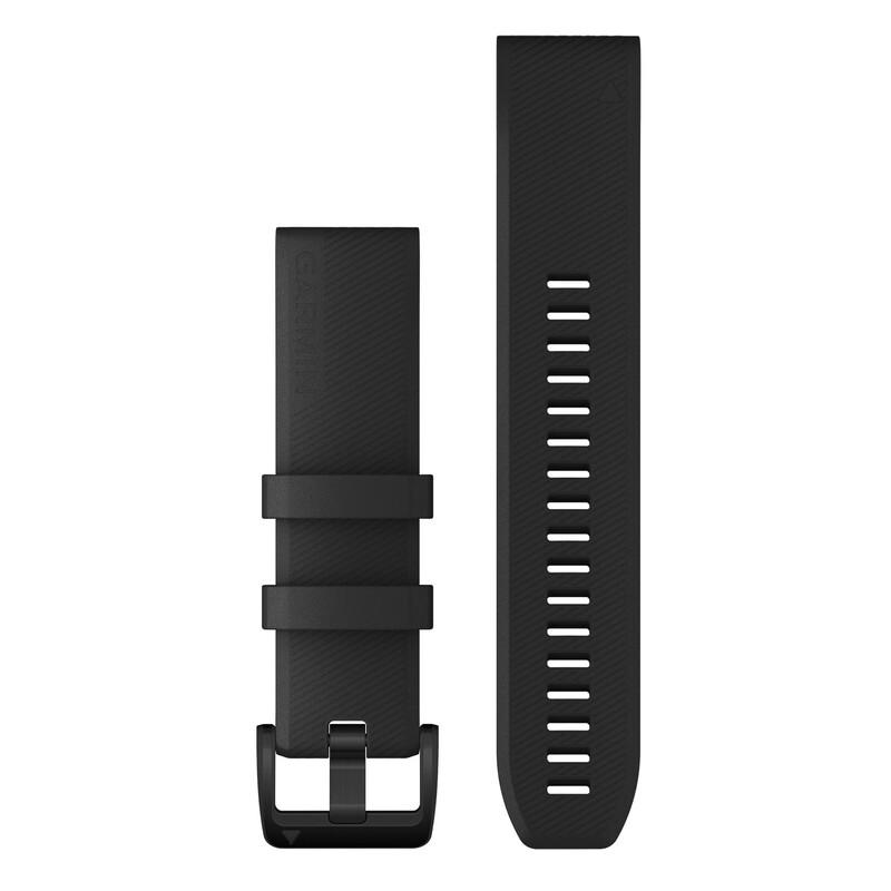 Garmin Quickfit Band 22mm Silikon schwarz schwarz