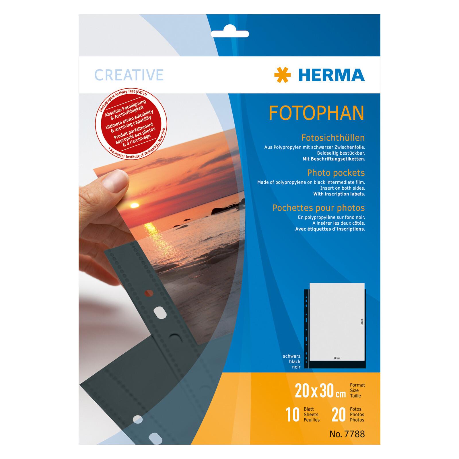 Herma 7788 Fotophan 20x30 schwarz