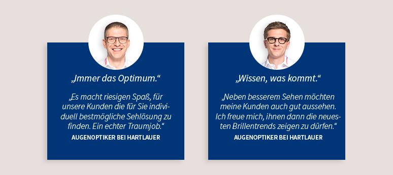 Zwei Optiker, Feedback von unseren Optikern