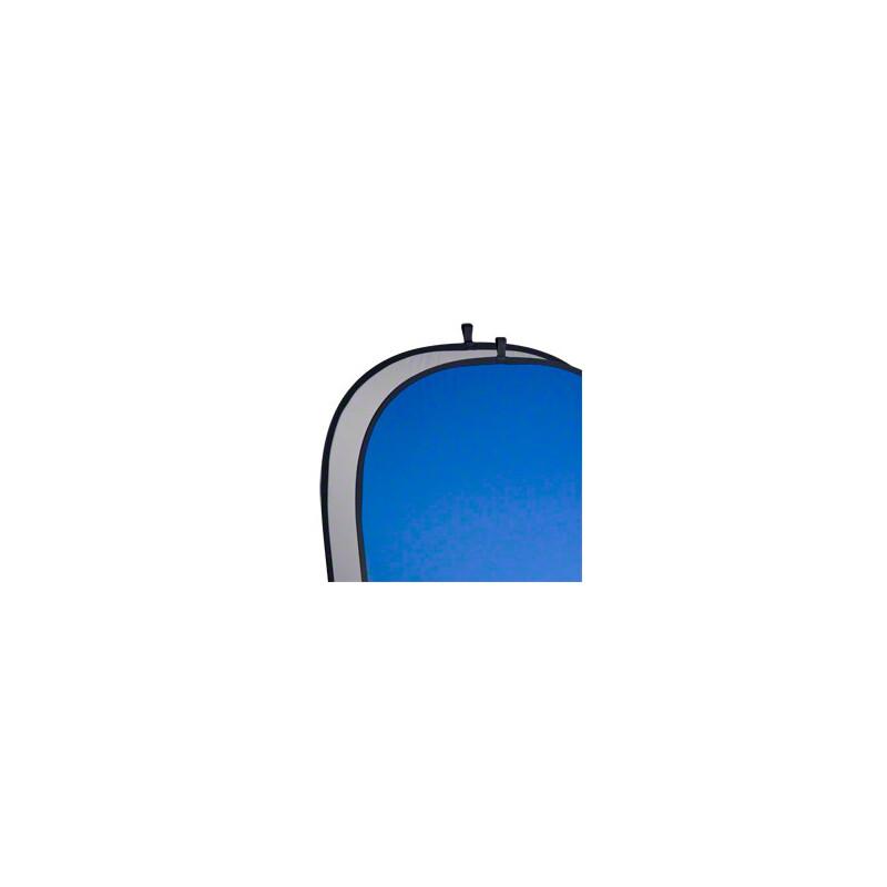 walimex pro 2in1 Falthintergrund grau/blau 150x200