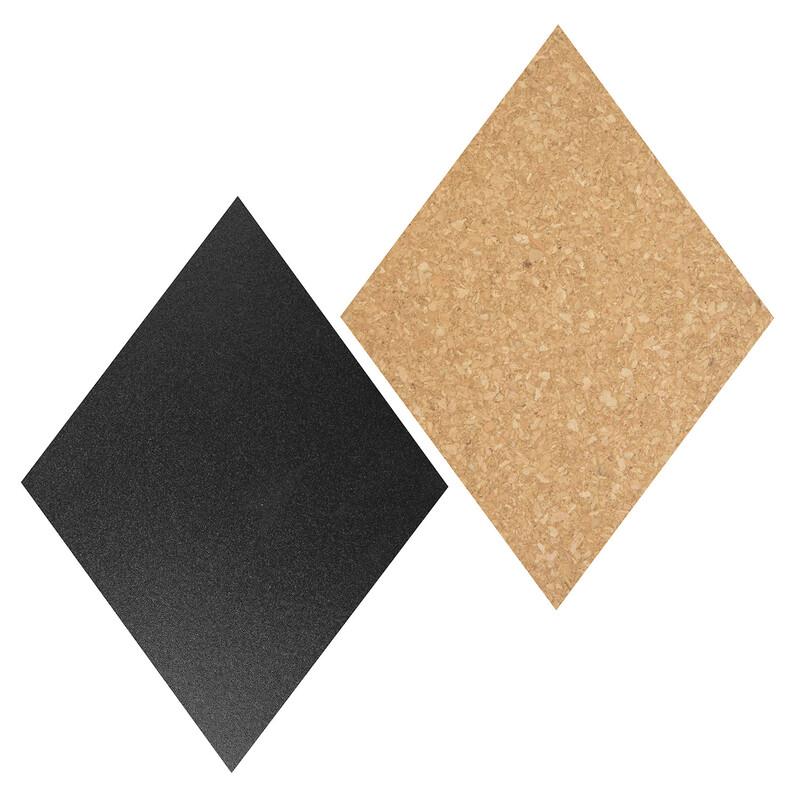 Securit Diamant Kork- +Kreidetafel 7Stk