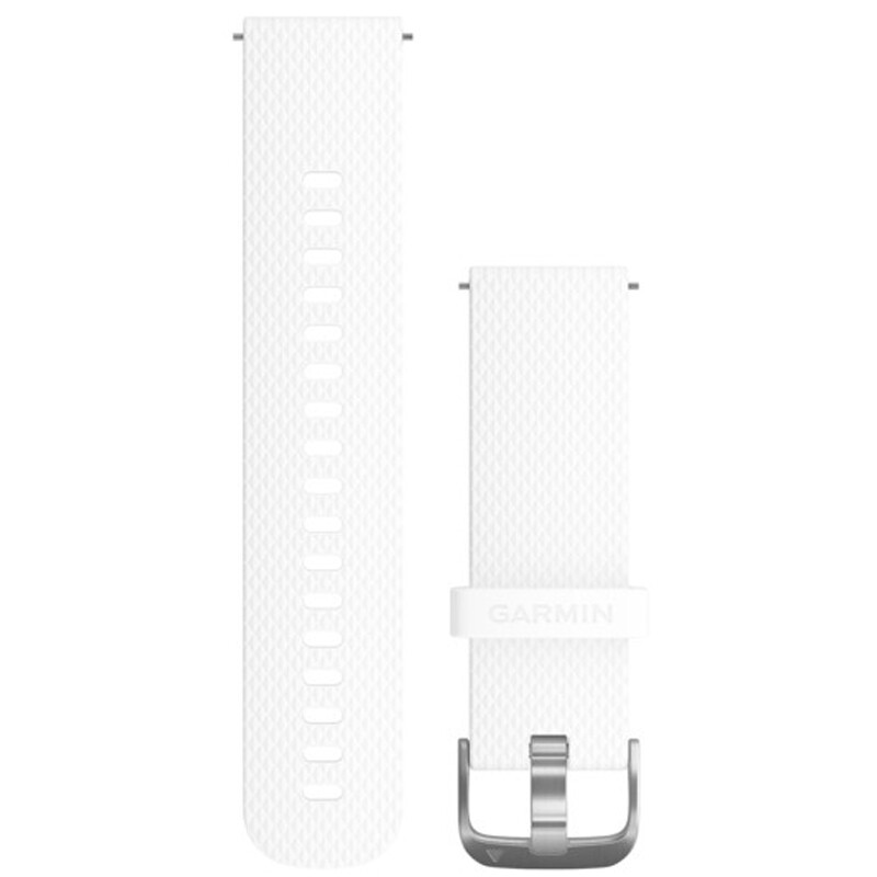Garmin Uhrenarmband Vivomove 20mm Silikon S/M Weiß
