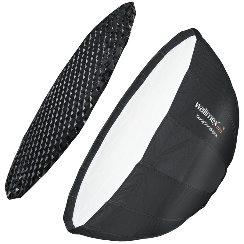 Walimex pro Studio Line Beauty Dish Softbox QA85 mit Softbox