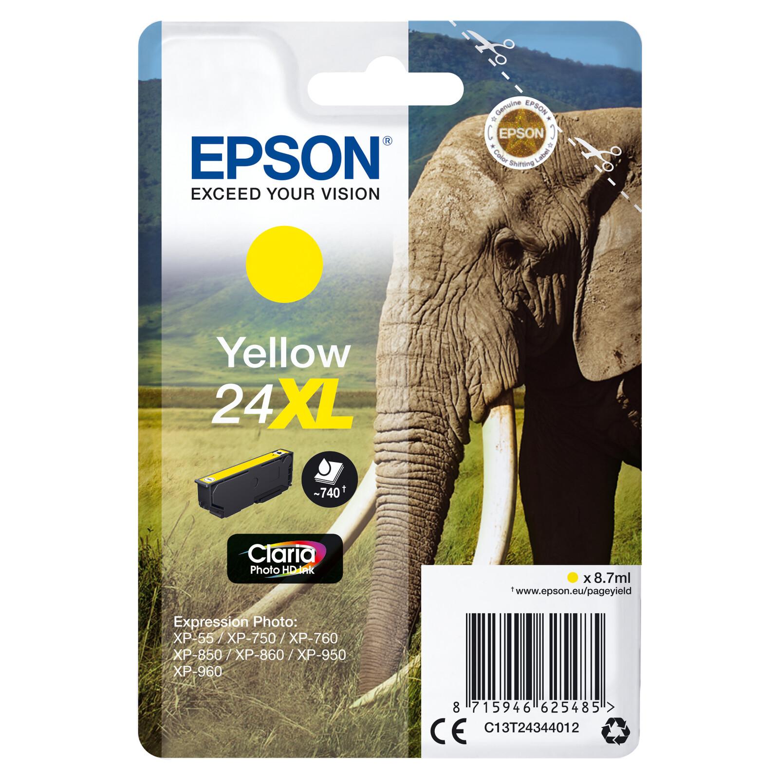 Epson 24XL T2434 Tinte Photo Yellow 8,7ml