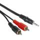 Hama 43343 Audio-Kabel 2 Cinch-Stecker 5m