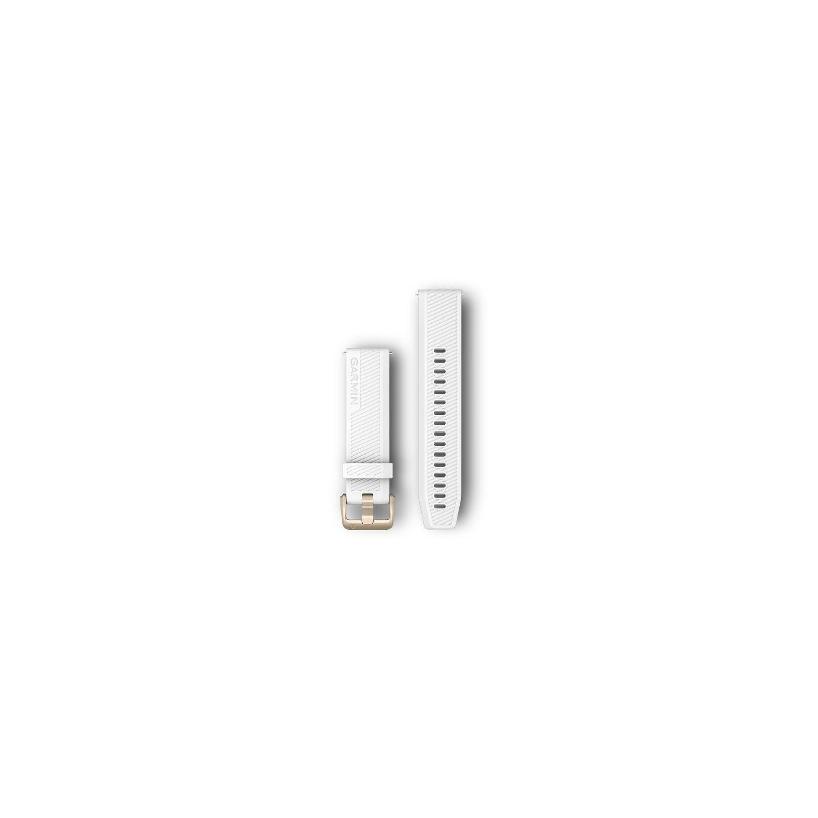 Garmin Band 20mm Silikon weiß weißgold