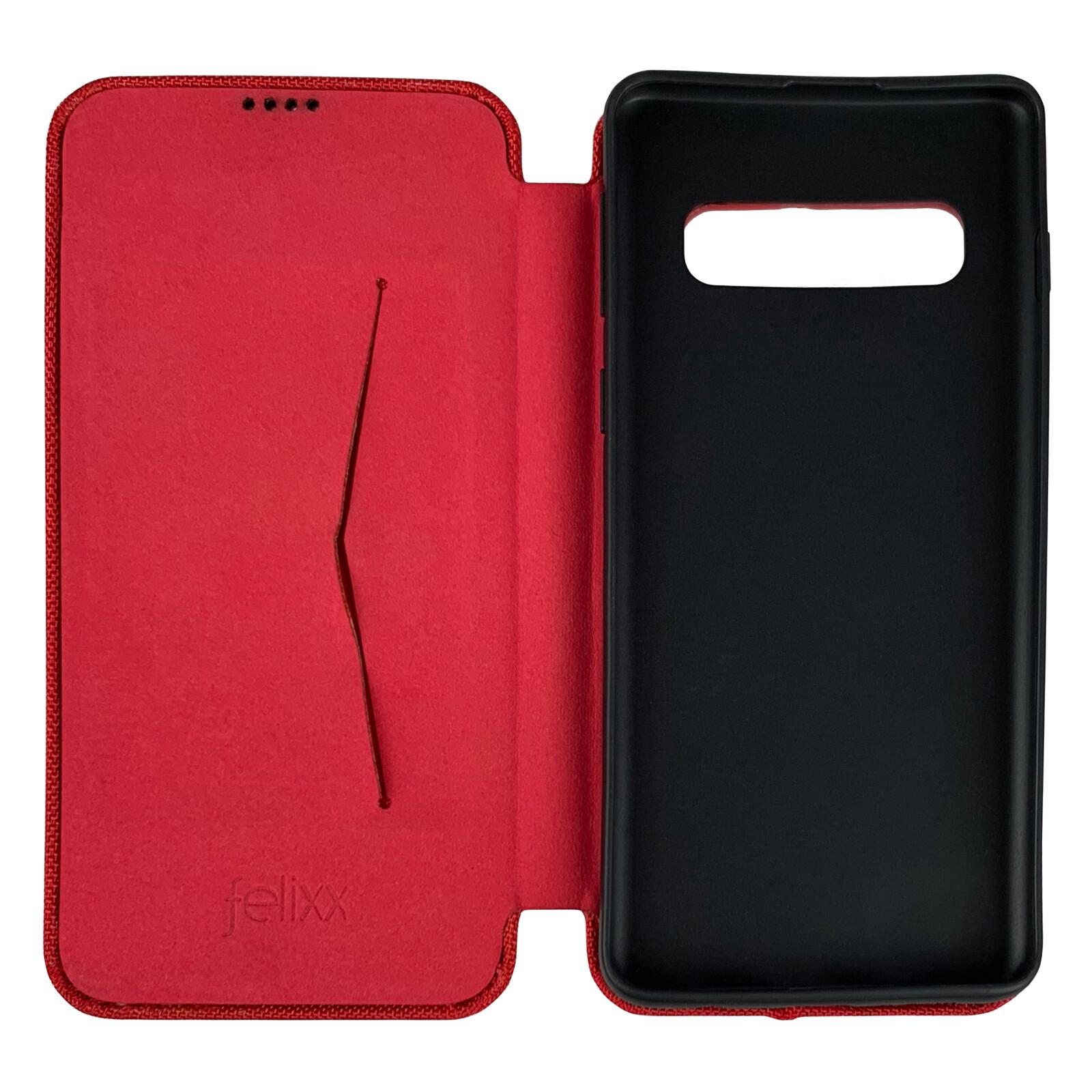 Felixx Book Tasche Ancona Samsung Galaxy S10 vulkanrot