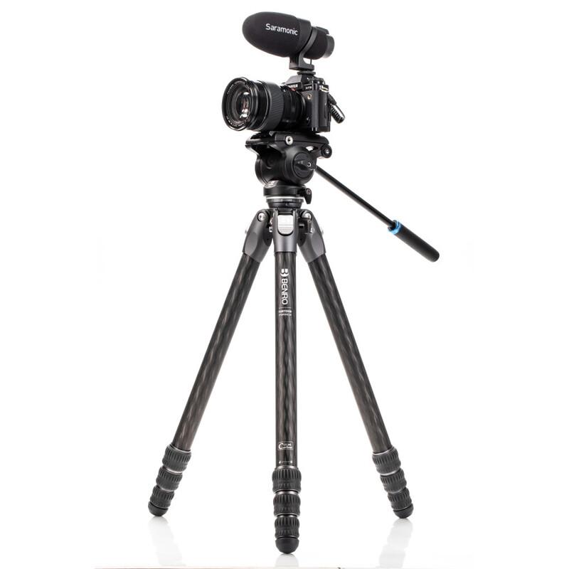 Benro Tortoise 34CLV + S4PRO Video Kit Carbon Stativ