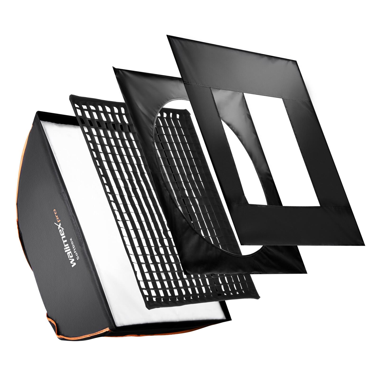 walimex pro Softbox PLUS OL 80x120cm + Uni Adapter