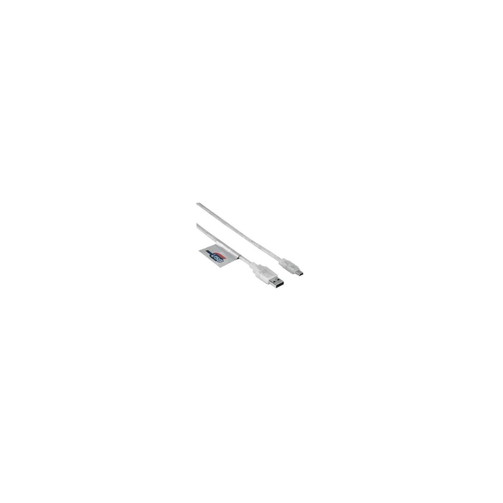 Hama 41533 Mini-USB-2.0-Kabel, vergoldet, doppelt geschirmt,