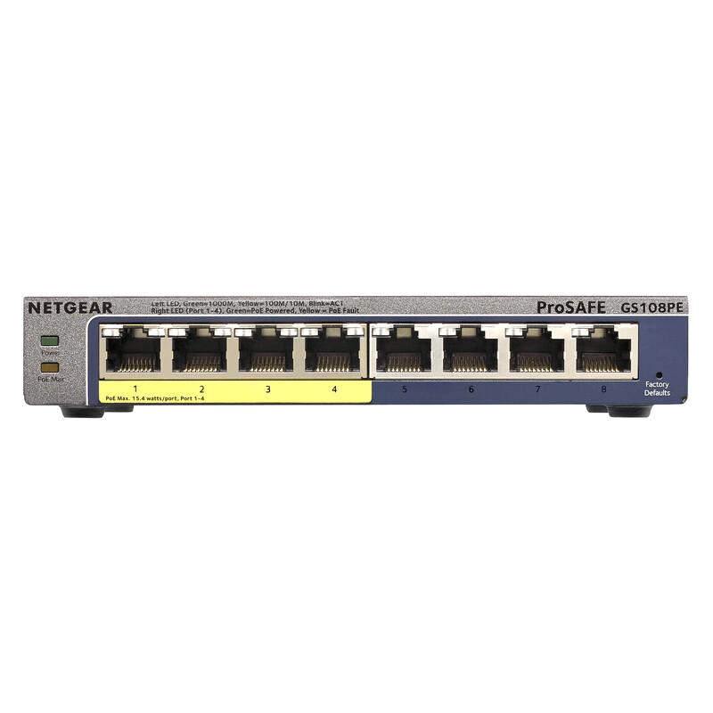 Netgear Prosafe 8-Port GBit Switch GS108PE