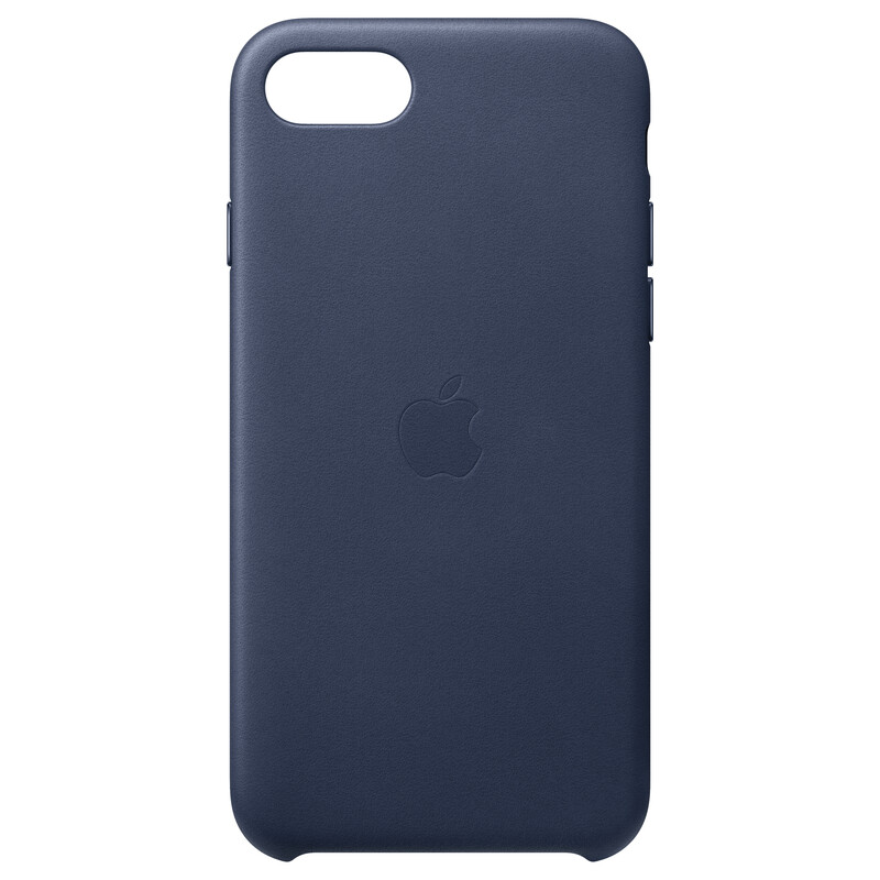 Apple Original Back Cover Leder iPhone SE 2020 midnight blue