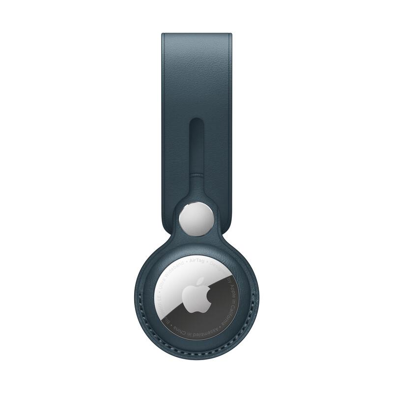 Apple AirTag Anhänger Leder baltischblau