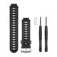 Garmin FR 230/235/630 Ersatzband Black/White