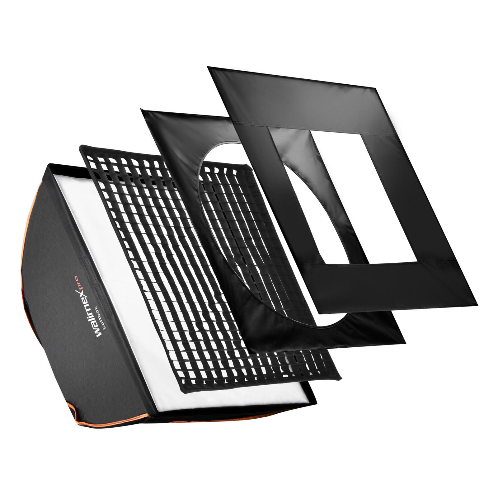 walimex pro Softbox PLUS Orange Line 90x90
