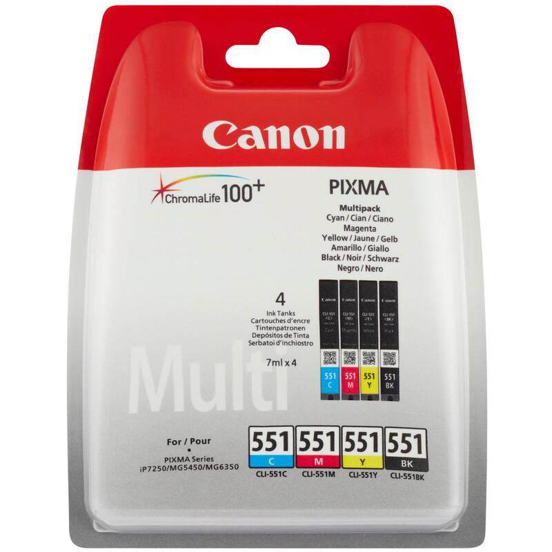 Canon CLI-551 Tinte B/Y/C/M