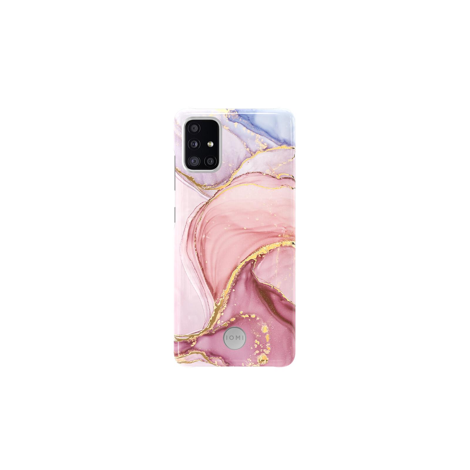 IOMI Back Design Samsung Galaxy A51 marble pink gold