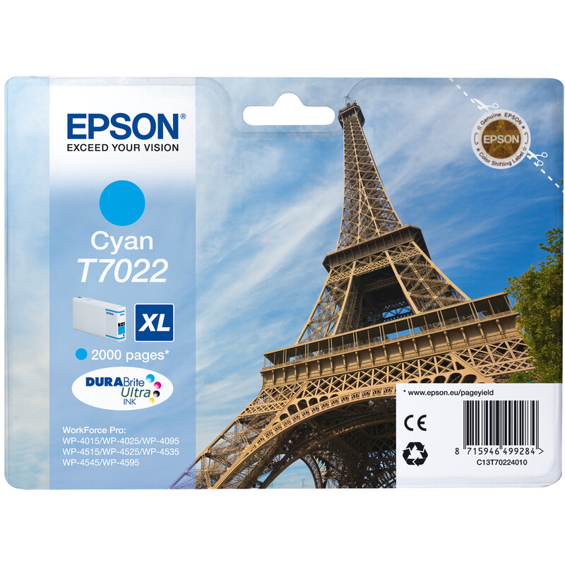 Epson T7022XL Tinte Cyan 21,3ml