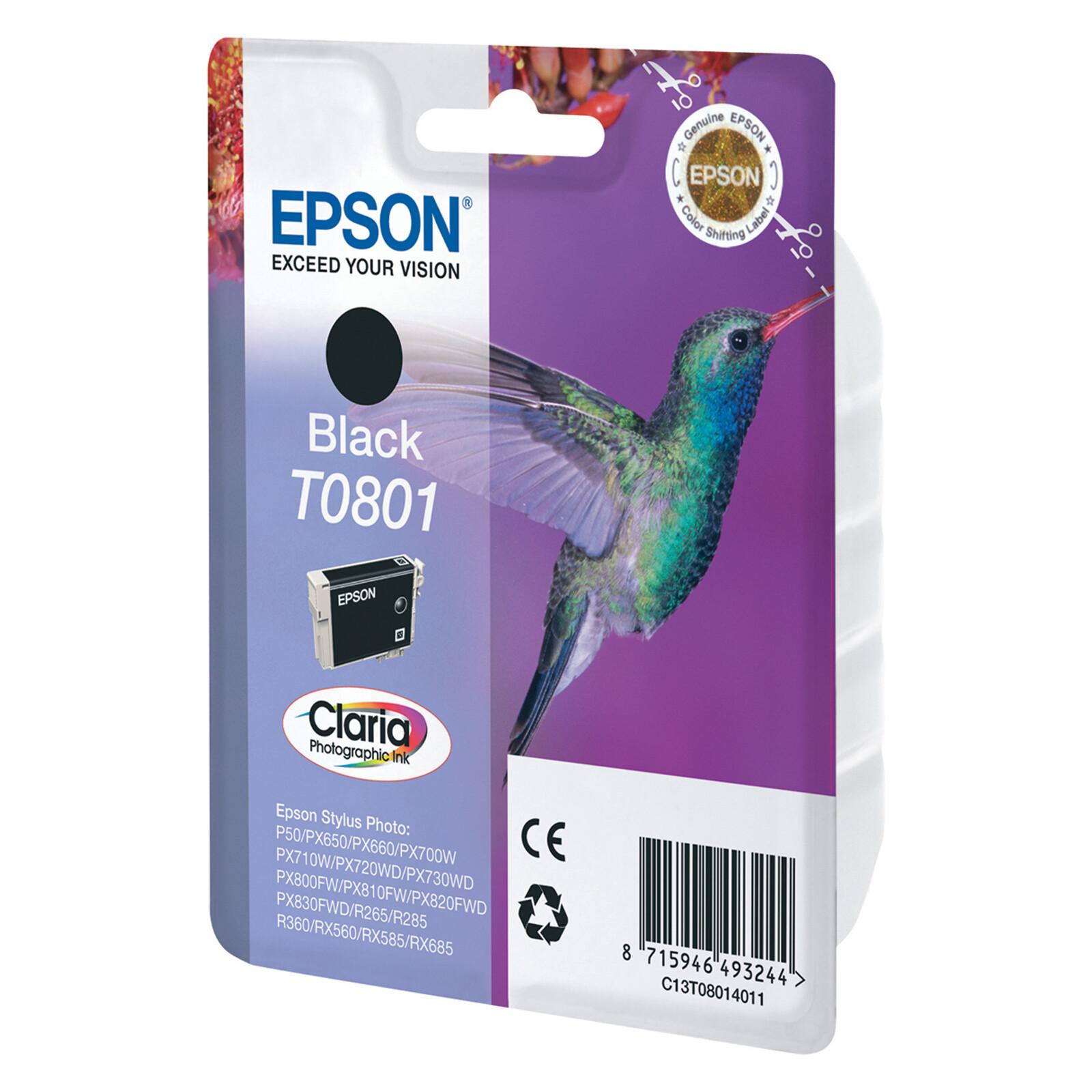 Epson T0801 Tinte Photo Black 7,4ml
