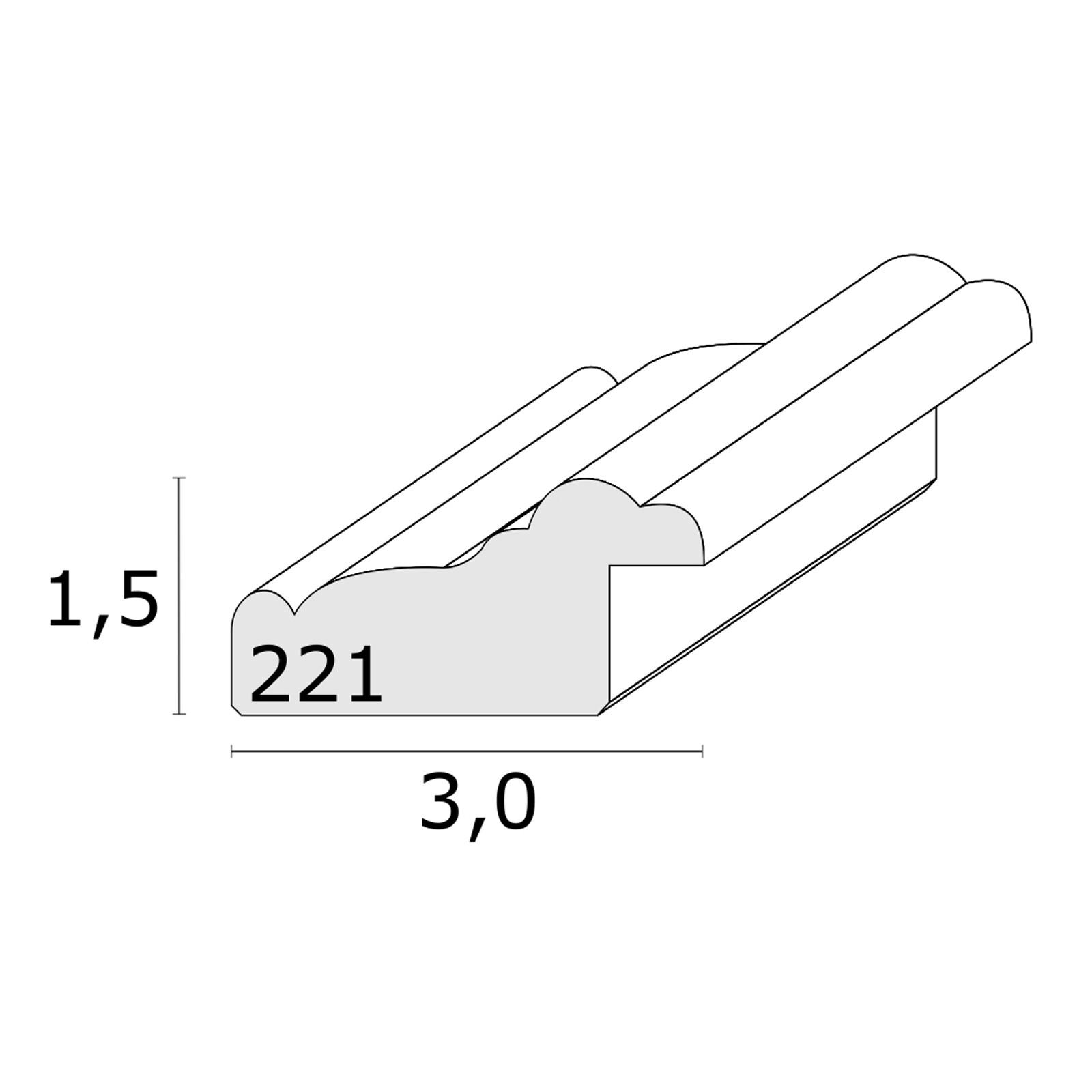 Bilderrahmen Deknudt 13x18cm Holz weiß/natur S221H1