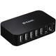 D-LINK 7xUSB2.0 7Port USB Hub 480Mbps PC MAC