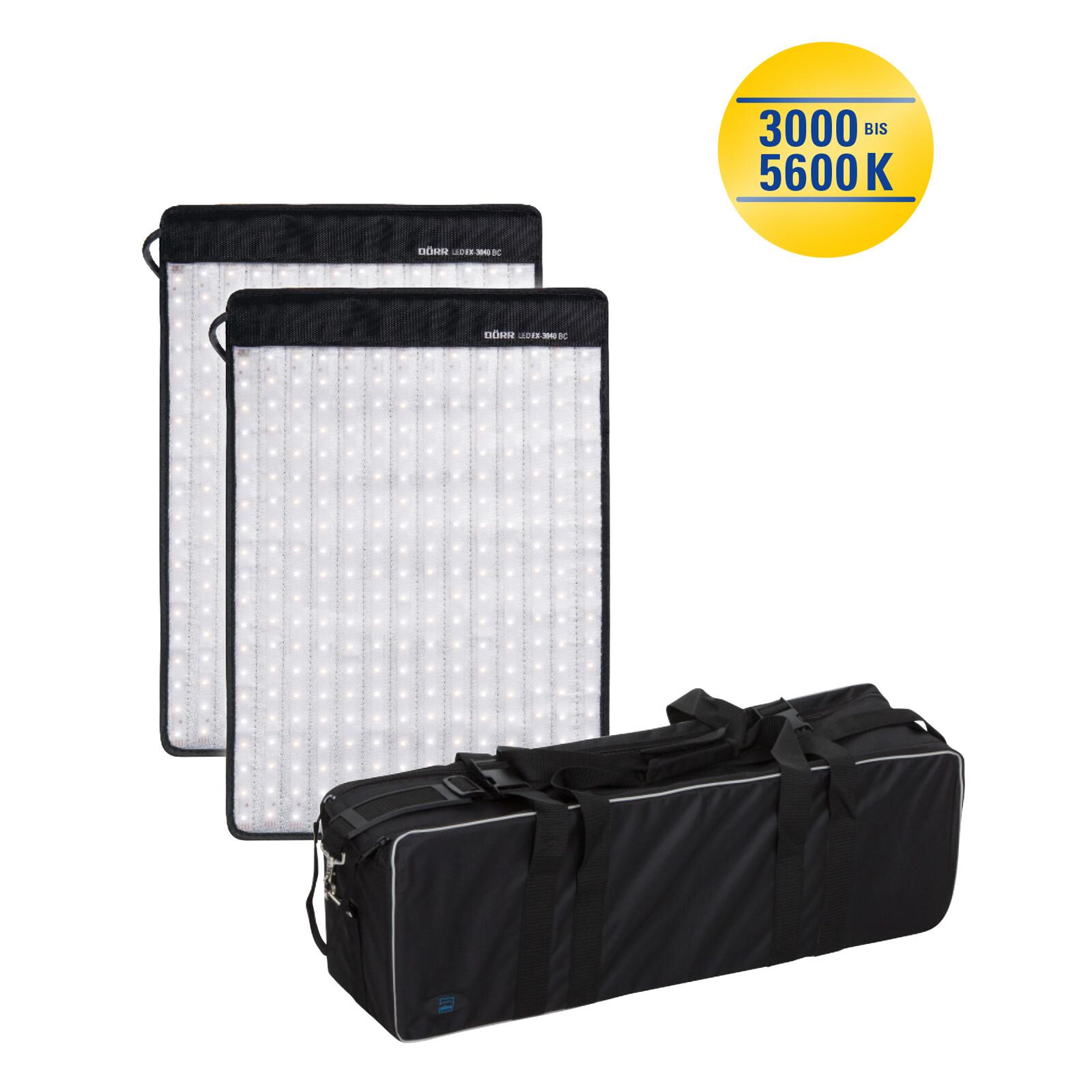 Dörr FX-3040 BC Set LED Flex Panel 2er-Set inkl. Tasche